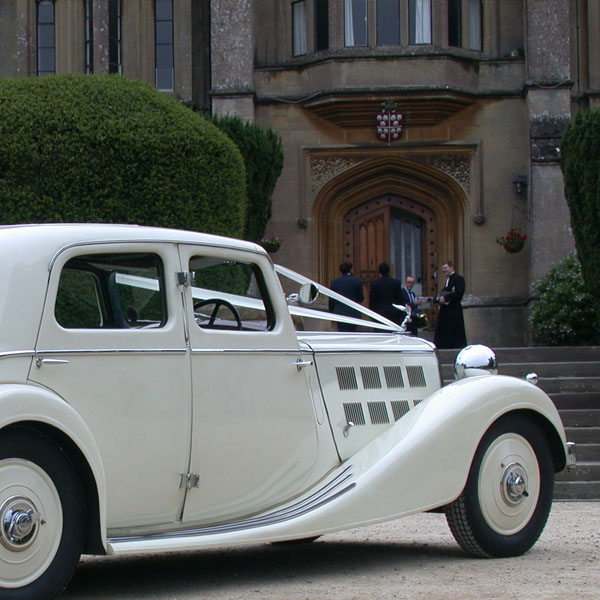 Vintage Triumph Wedding Car Gloucestershire