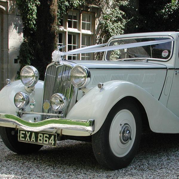 Vintage Triumph Wedding Car Cotswolds