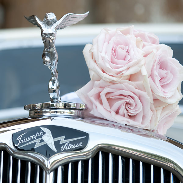 Vintage Triumph Wedding Car Stroud