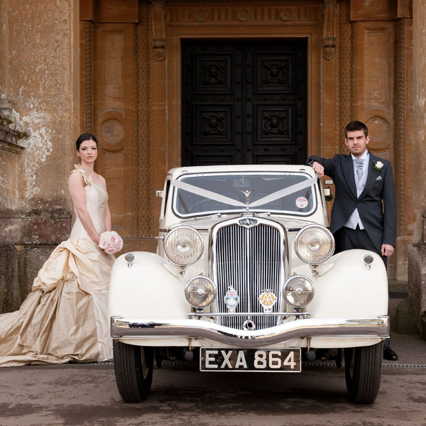 Vintage Triumph Wedding Car