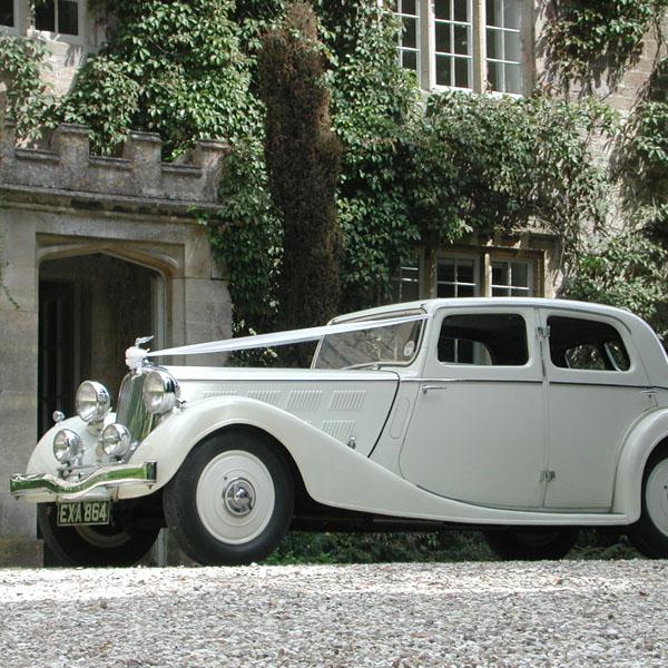 Beautiful Vintage Triumph Wedding Car
